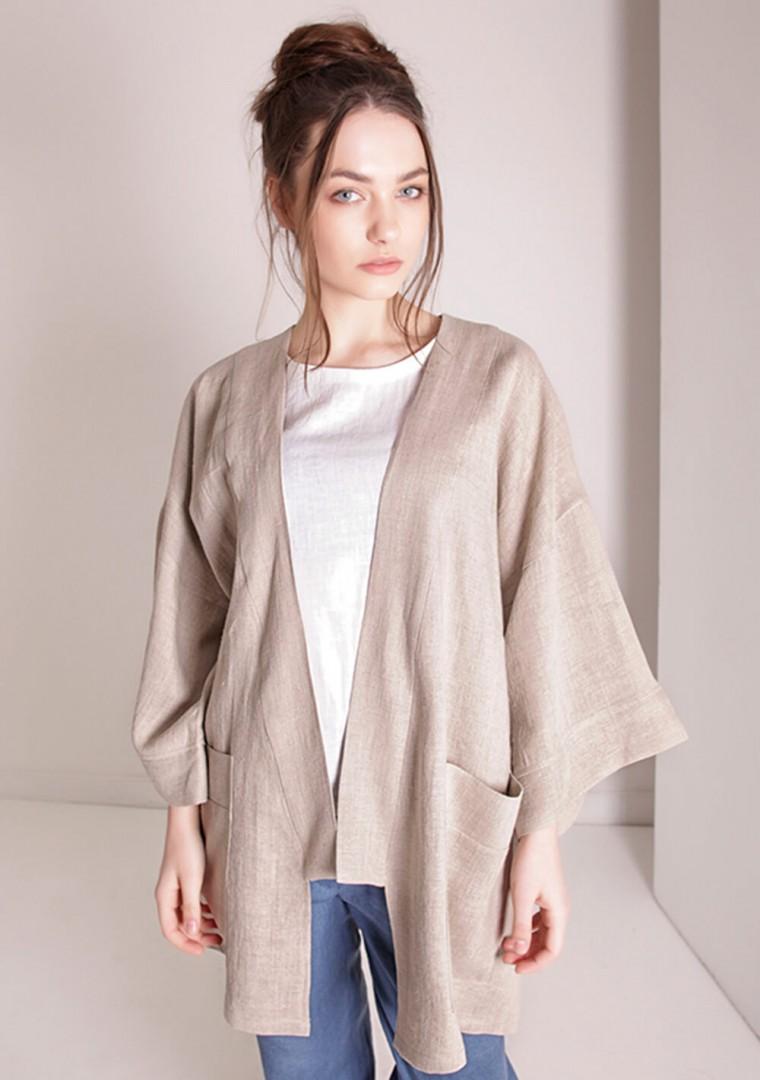 Oversized linen cardigan Devonne 5