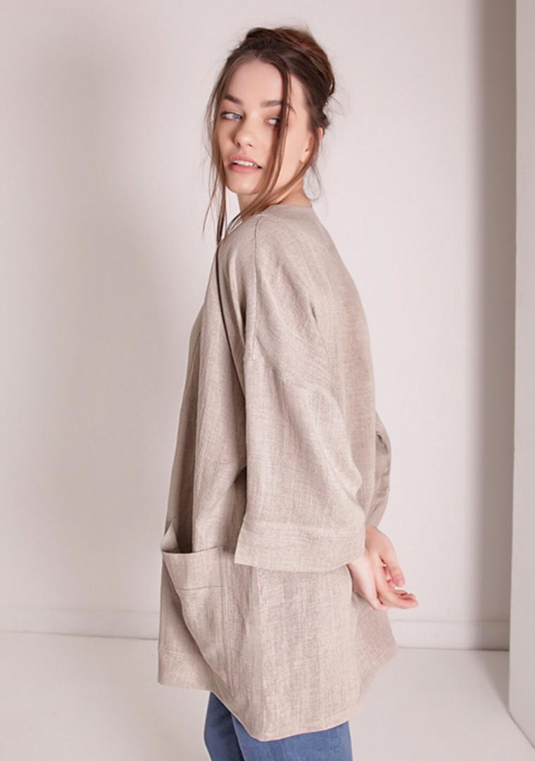 Oversized linen cardigan Devonne 2