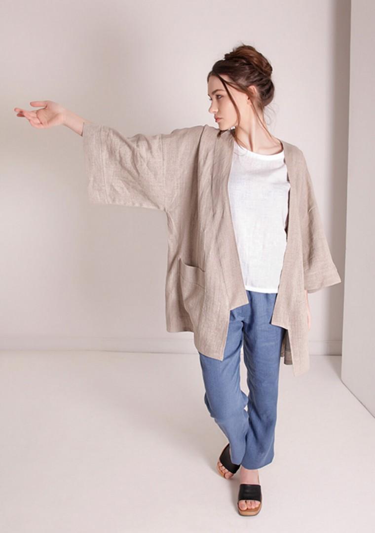 Oversized linen cardigan Devonne 6