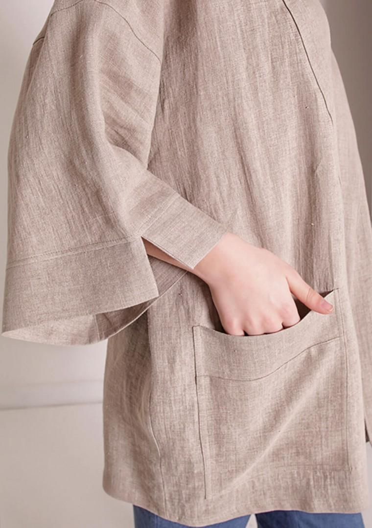 Oversized linen cardigan Devonne 7
