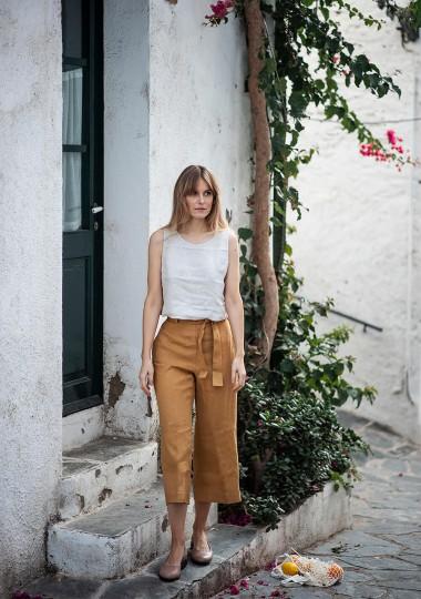 Linen crop pants Karter