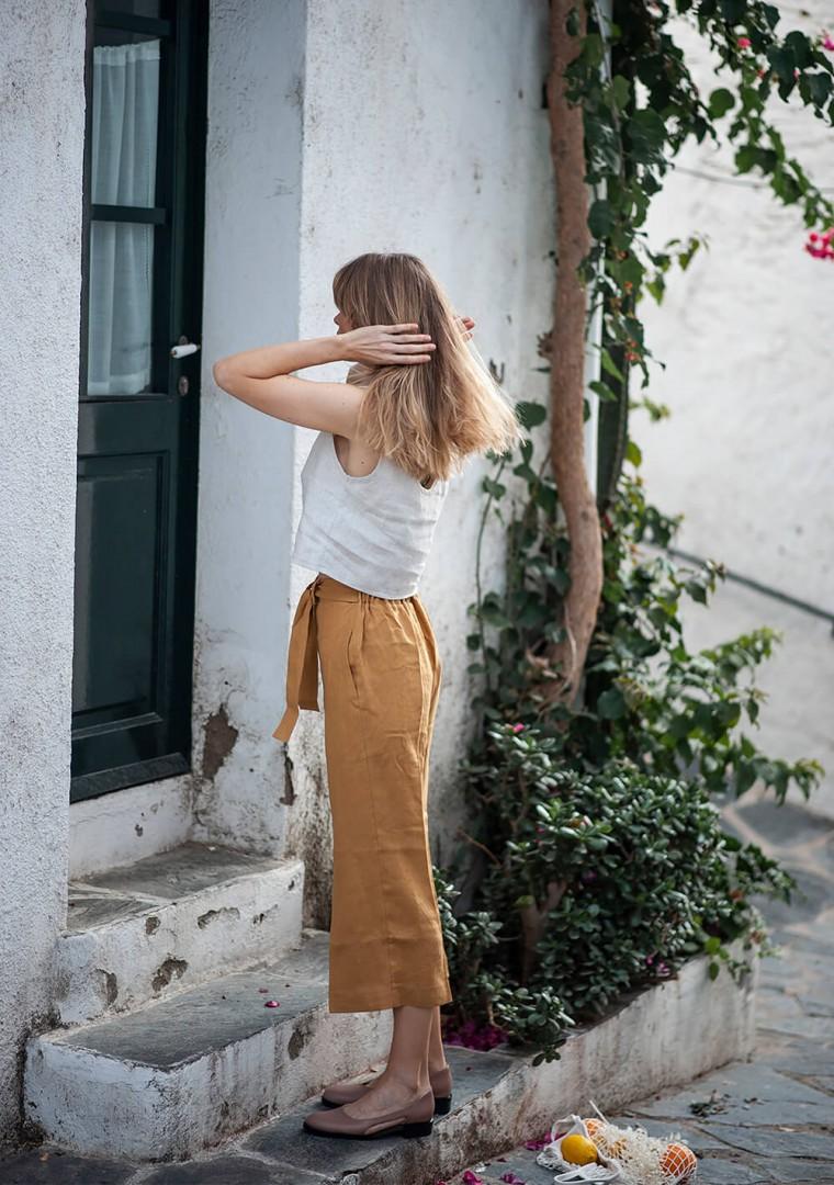 Linen crop pants Karter 5