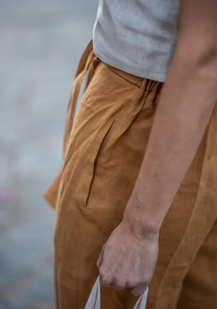 Linen crop pants Karter 6