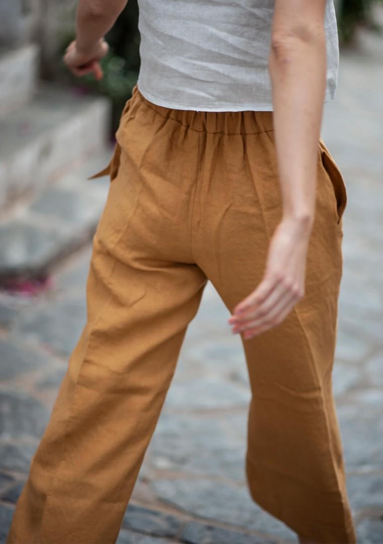 Linen crop pants Karter 9
