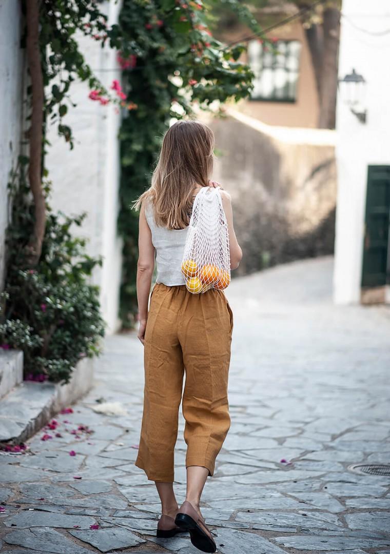 Linen crop pants Karter 8