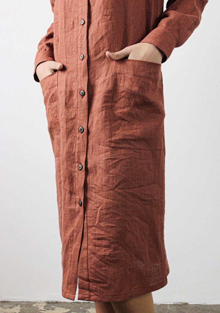 Linen shirt dress April 7