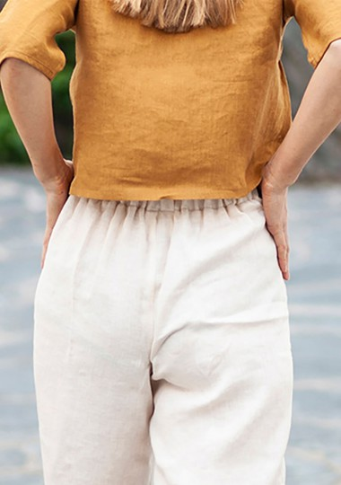 Linen pants Riley in ivory