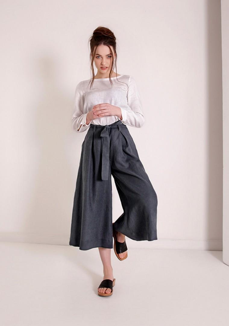 Linen culotte pants Ruth 1