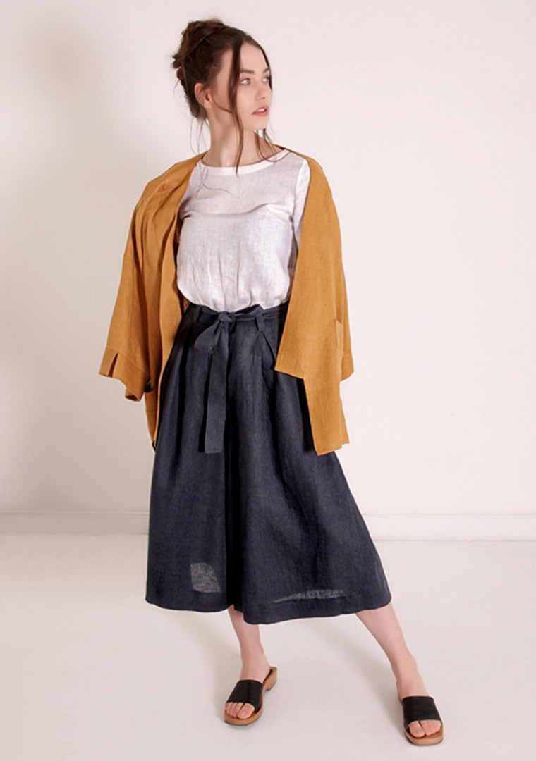 Linen culotte pants Ruth 2