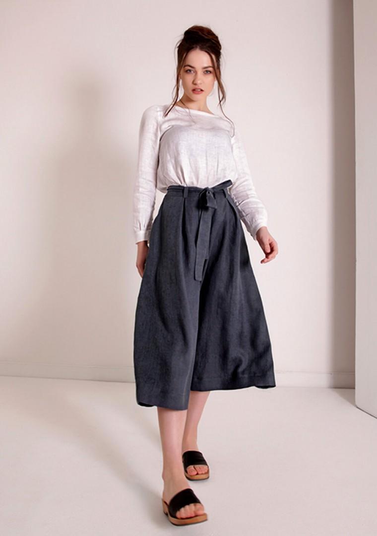 Linen culotte pants Ruth 3