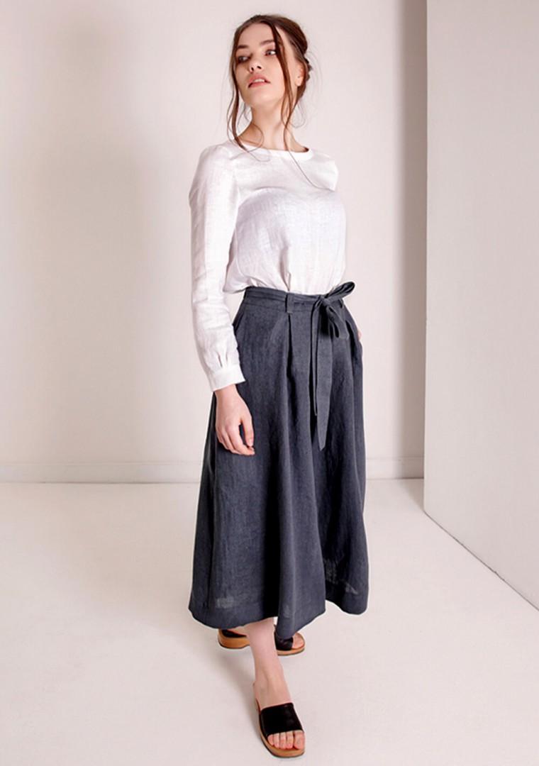 Linen culotte pants Ruth 4
