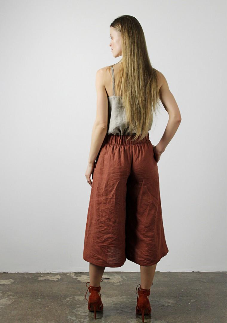 Linen culotte pants Sienna 3