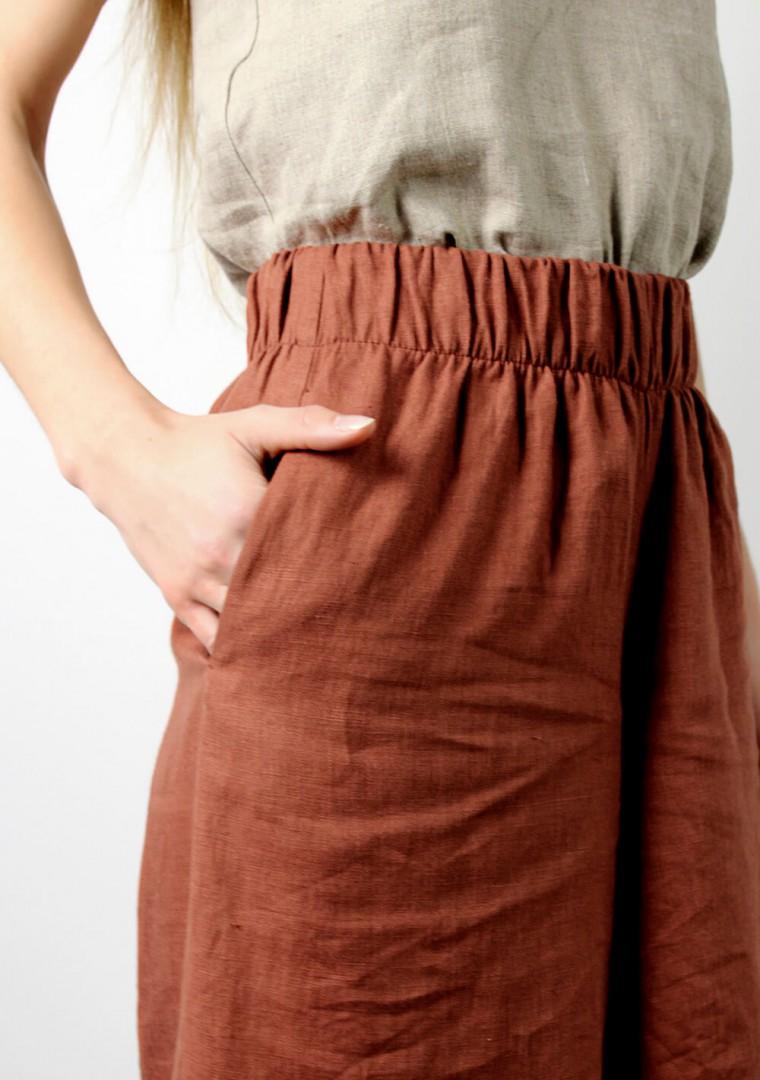 Linen culotte pants Sienna 4