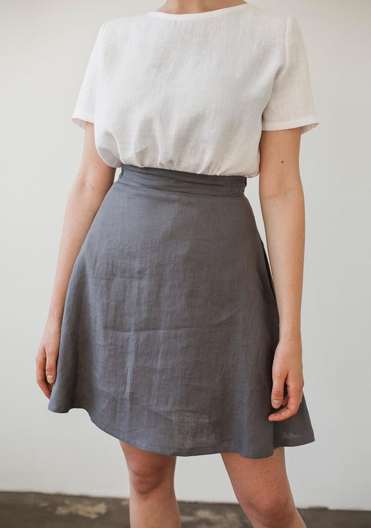 Linen mini skirt Adelle 2