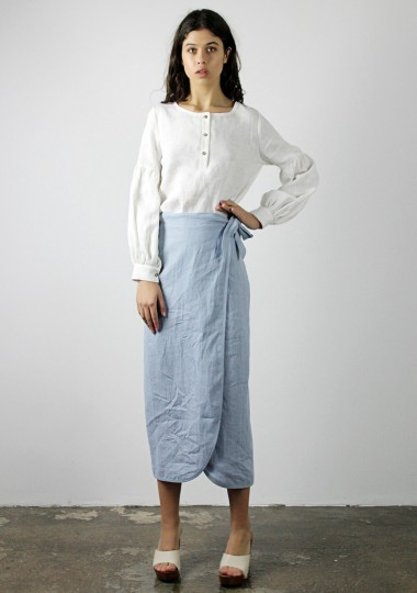 Linen wrap skirt Fiona