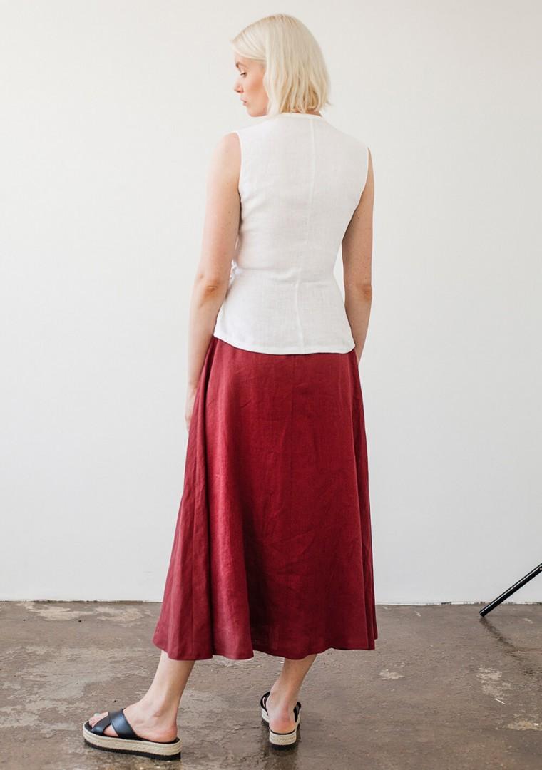 Linen skirt India 5