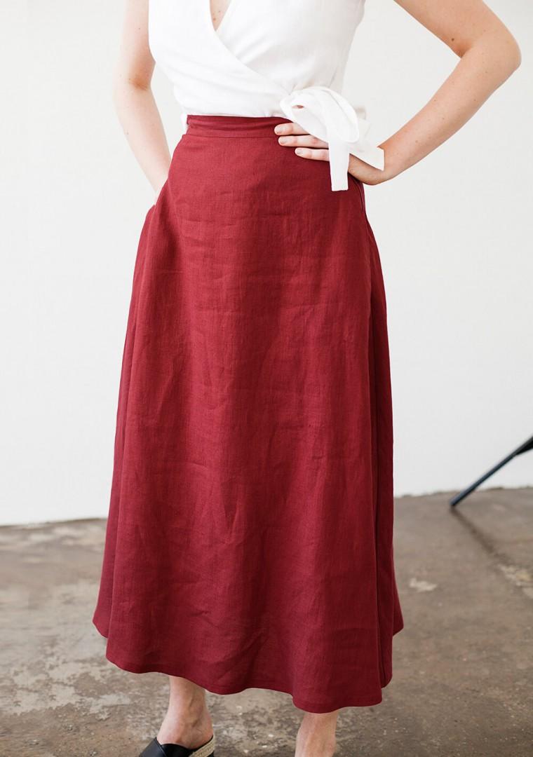 Linen skirt India 3