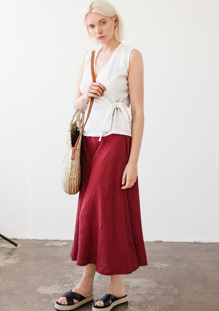Linen skirt India 4