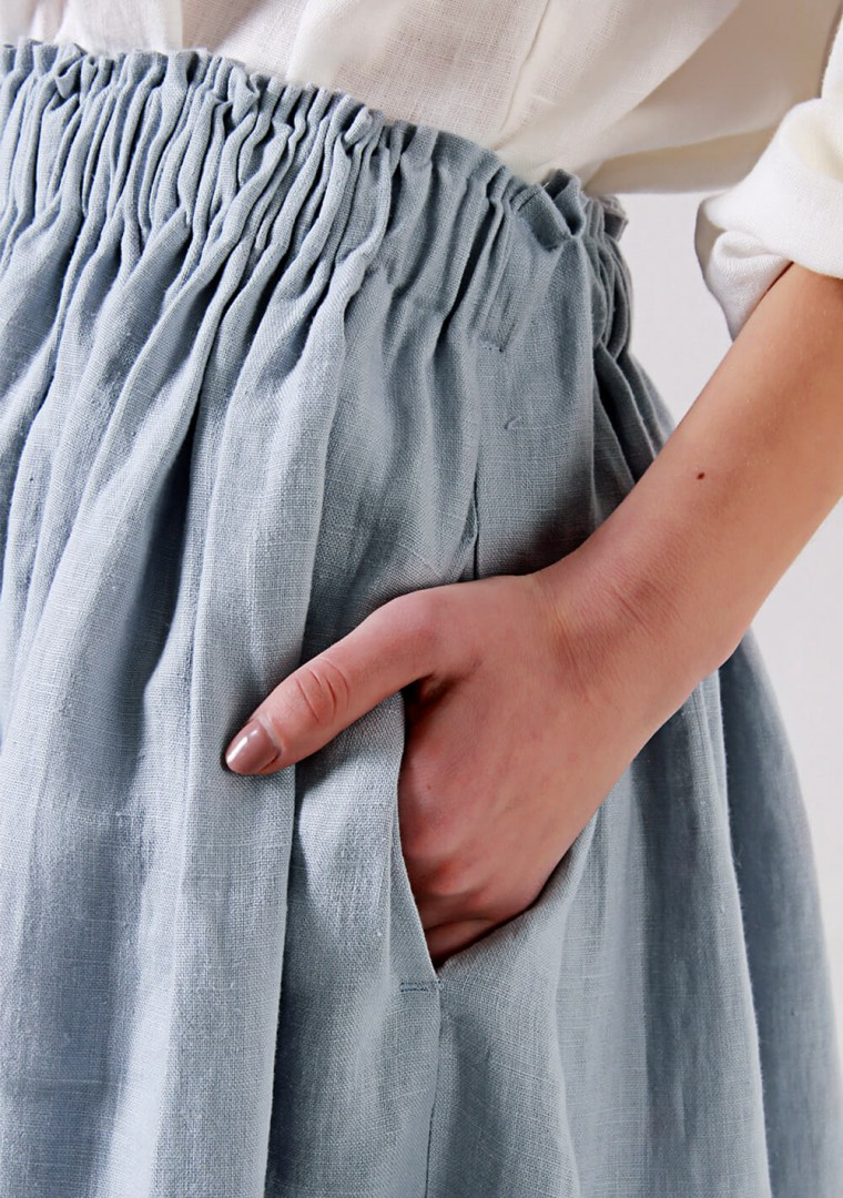 Linen ruffle waist skirt Margo 4