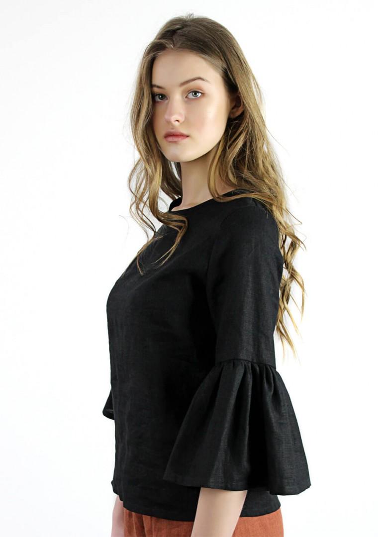 Linen frill sleeve top Camilla 3