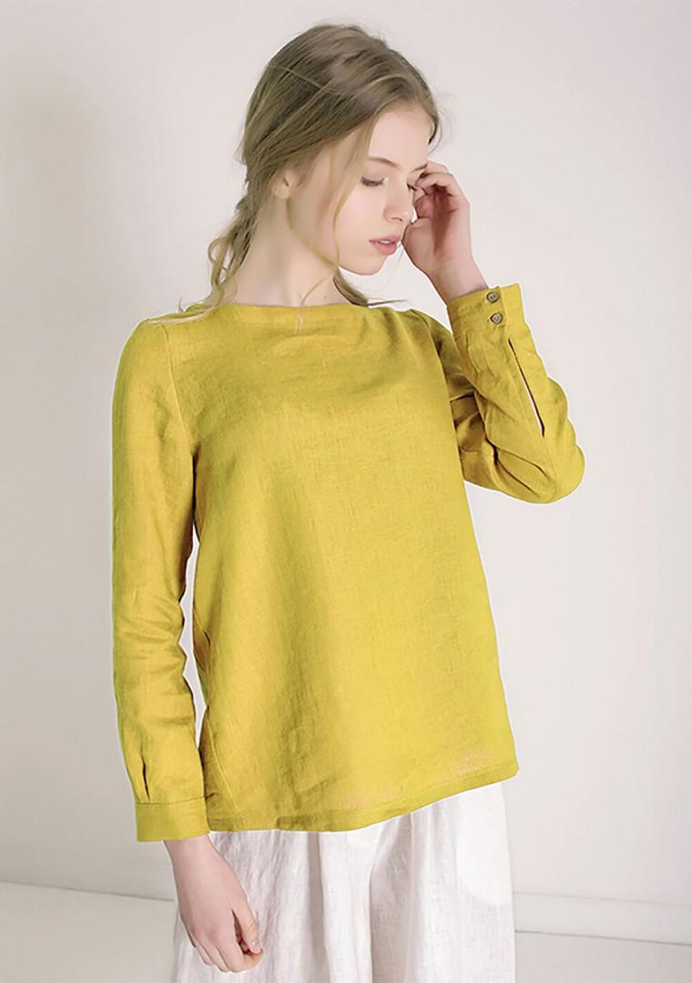 Long sleeve linen shirt Cynthia 1