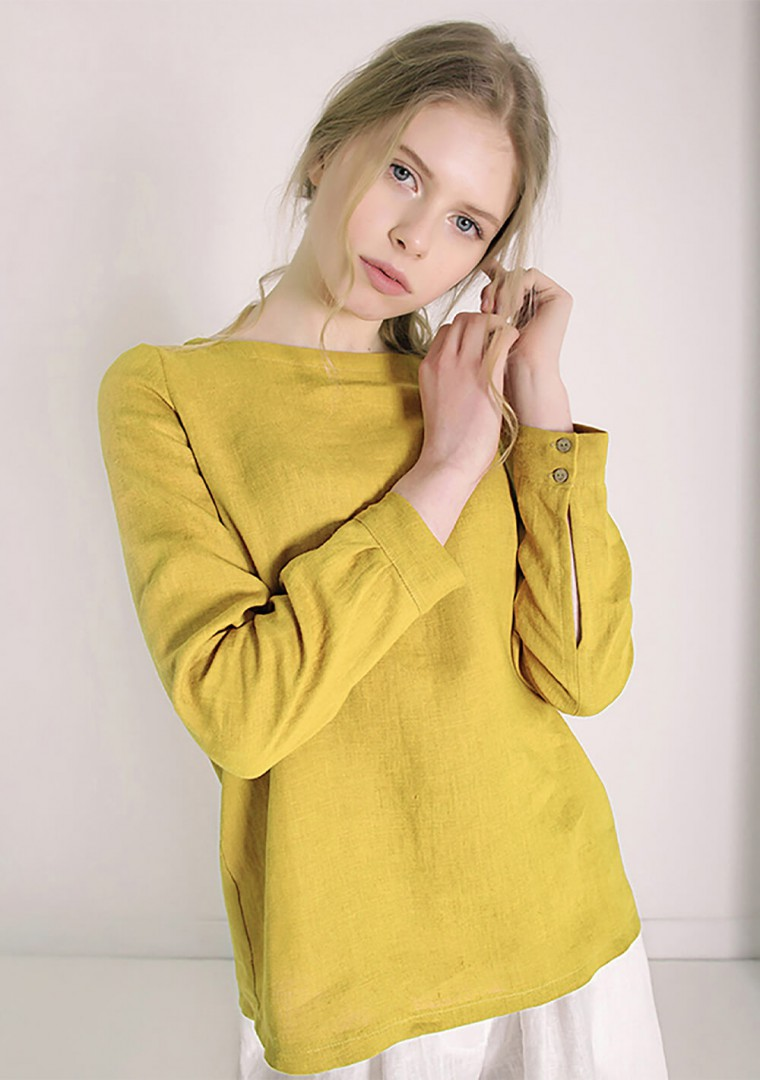 Long sleeve linen shirt Cynthia 3