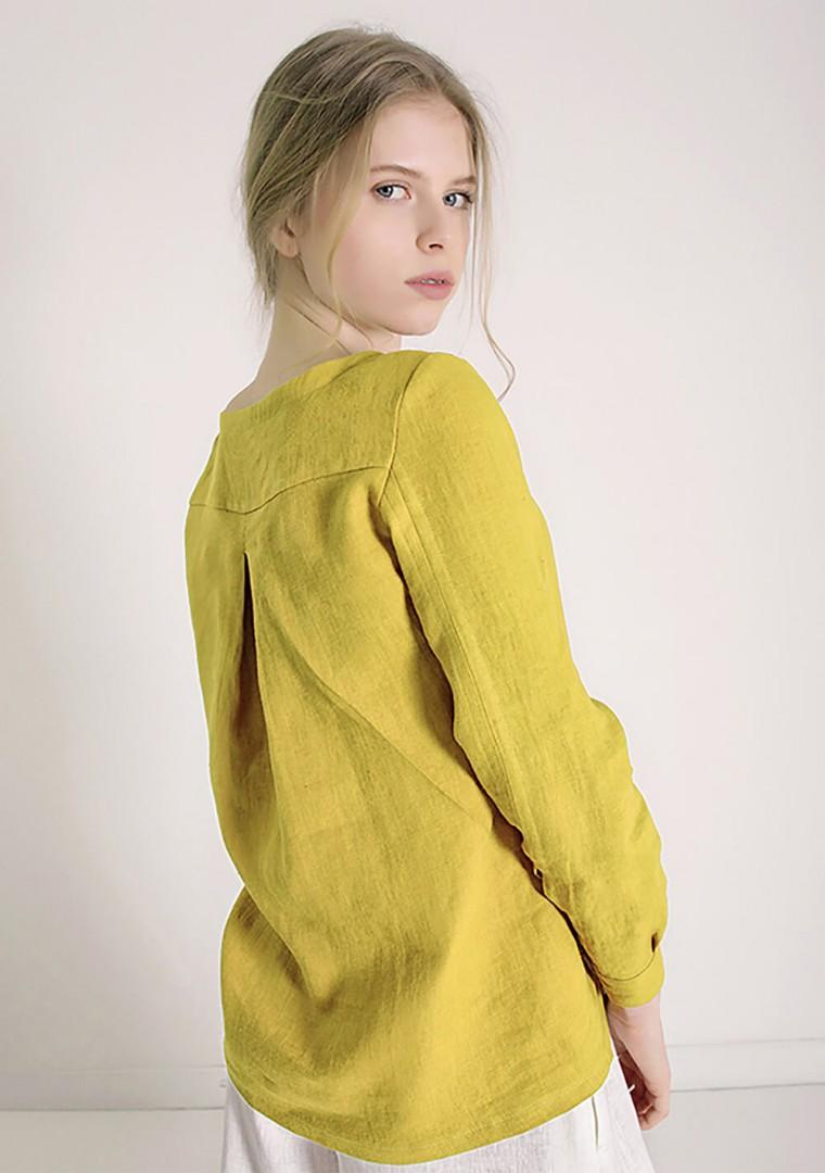 Long sleeve linen shirt Cynthia 2