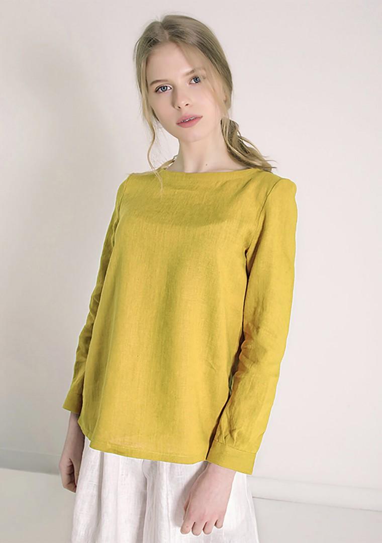 Long sleeve linen shirt Cynthia 4