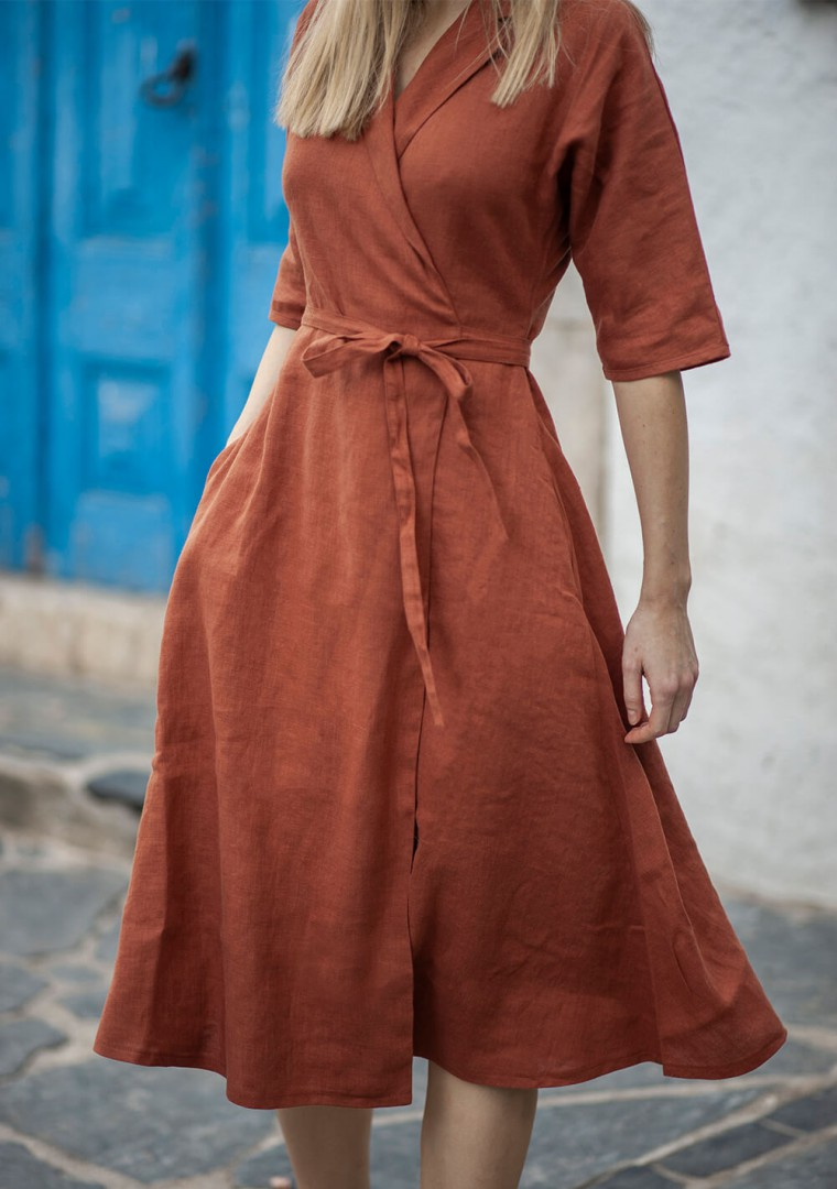 Linen dress Athena 4
