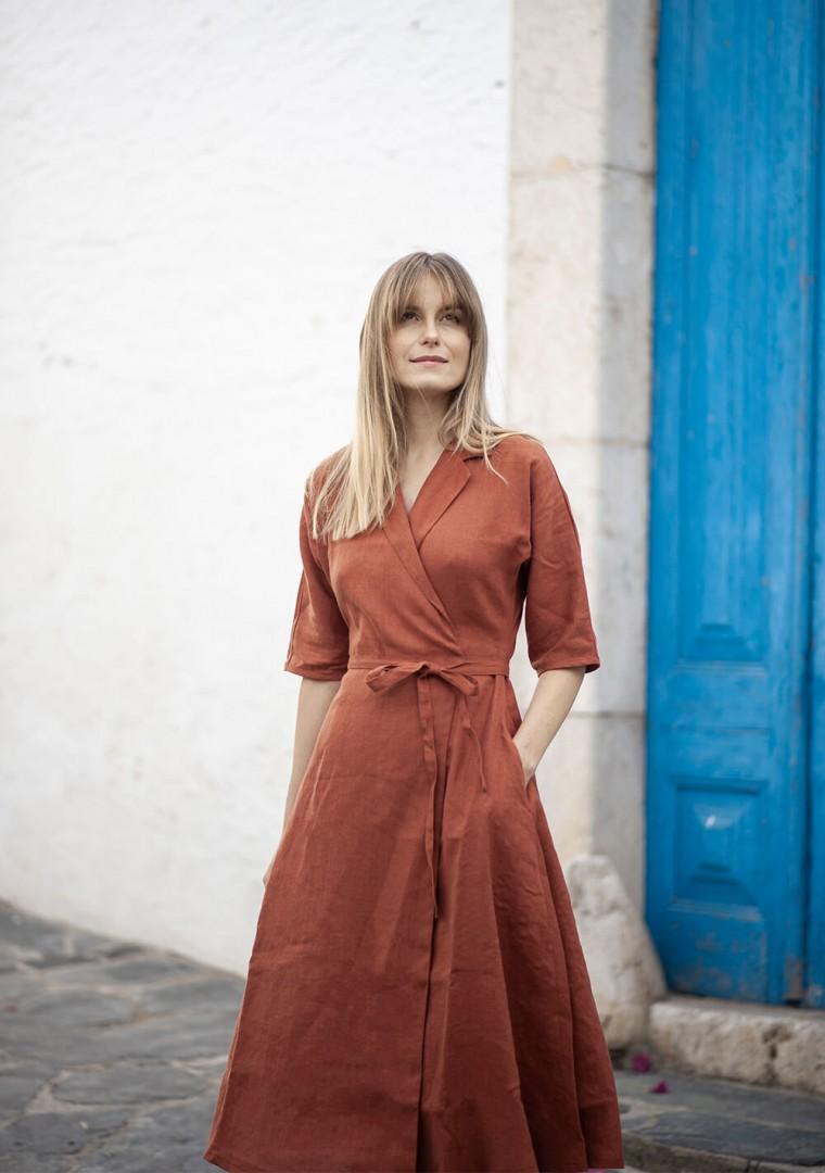 Linen dress Athena 3