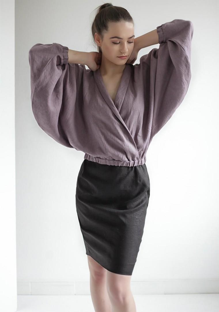 Linen wrap blouse Gloria 5