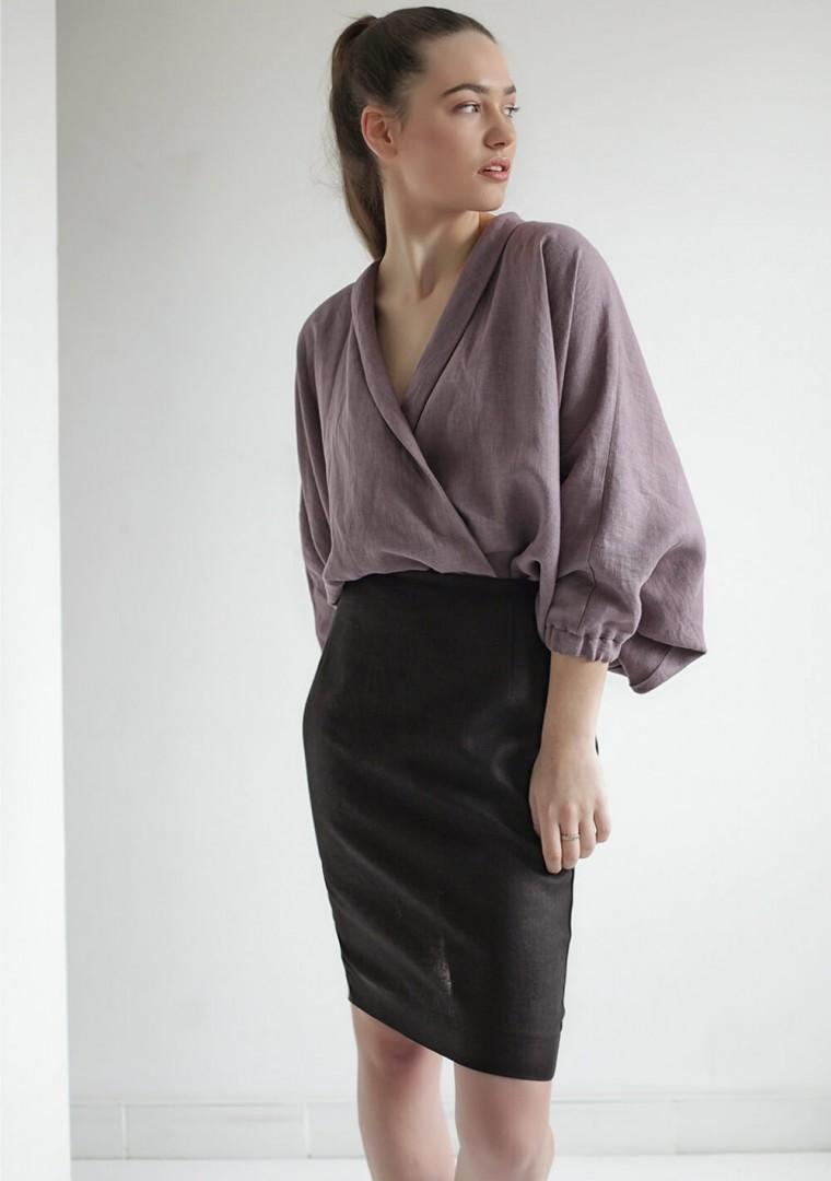 Linen wrap blouse Gloria 6