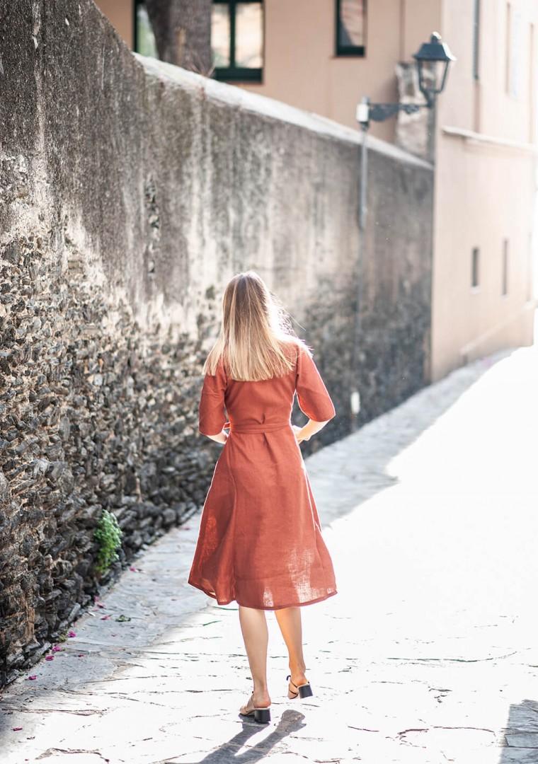 Linen dress Athena 9