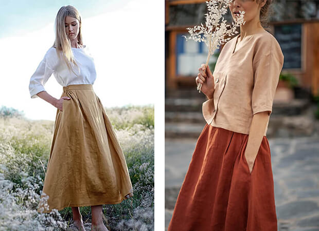 what-to-wear-with-linen-skirts